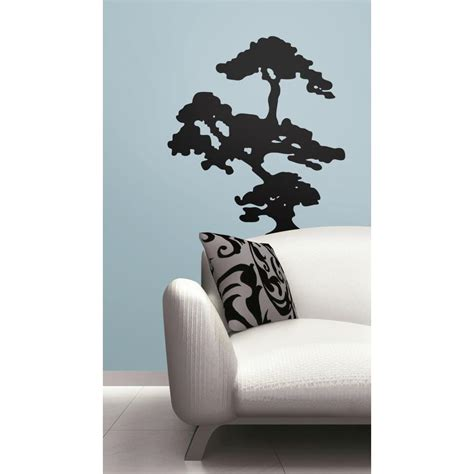 peel and stick wall decals bonzai tree peel and stick decal