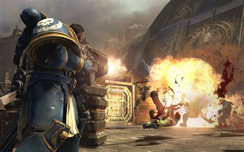 Ps3 Warhammer Space Marine wh40k space marine screens show orks dying horribly vg247