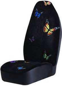 Butterfly Car Seat Covers Walmart Butterfly High Back Car Seat Cover Girly Auto Accessory