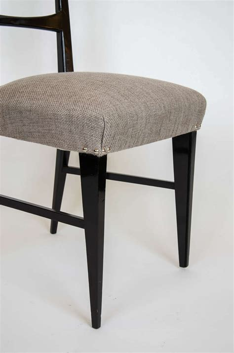 set of eight modern lacquered italian dining chairs at 1stdibs 1950s set of eight italian black lacquered dining chairs