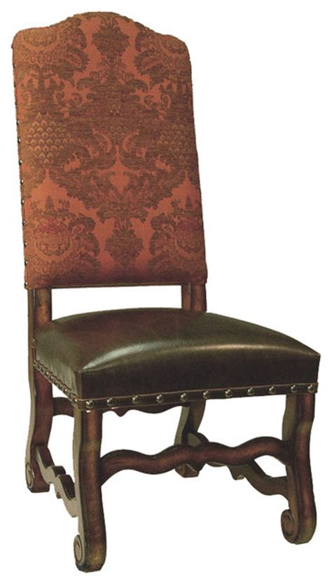Tuscan Dining Chairs World Tuscan Dining Side Chair Coral And Brown Traditional Dining Chairs By Lutina