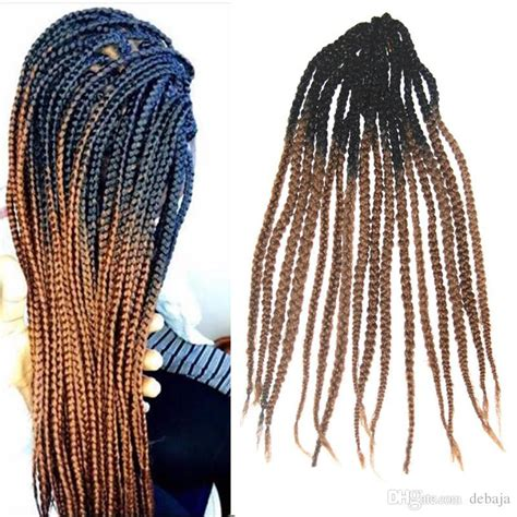braiding method for ombre kanekalon ombre synthetic braiding hair extensions crochet