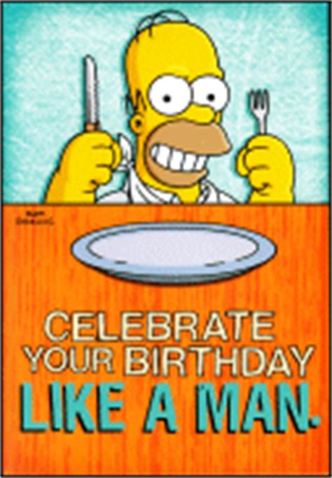 Simpsons Birthday Card Homer Simpson Birthday Quotes Quotesgram