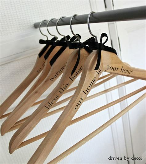 decoration hangers diy personalized wood hangers for guests or