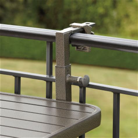 Balcony Railing Table by Dante Folding Aluminum Balcony Table Patio Terrace Deck