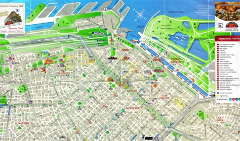 tourist map of central detailed tourist map of central part of buenos aires city