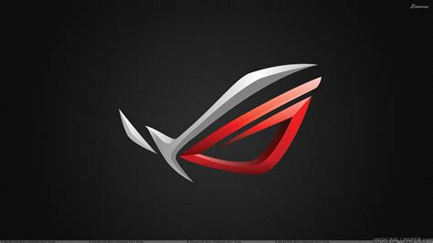 asus rog logo  black background hd wallpaper