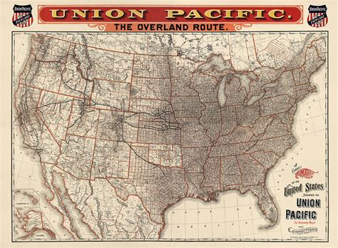 map of the united states railroads antique railroad map of the united states union pacific
