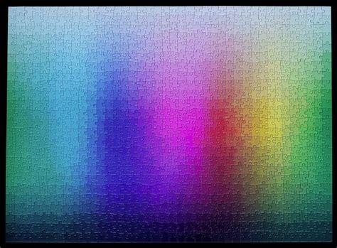 Cmyk Color Spectrum Puzzle by 1000 Colours Jigsaw Puzzle