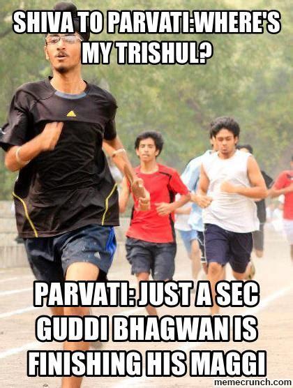 Shiva Meme - shiva to parvati where s my trishul