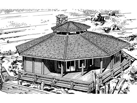 octagon shape house plans howardville waterfront home plan 072d 0706 house plans and more