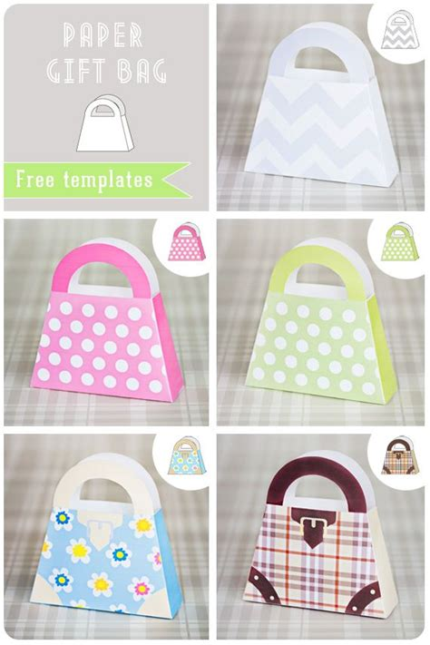 paper gift bag with free template party favor ideas