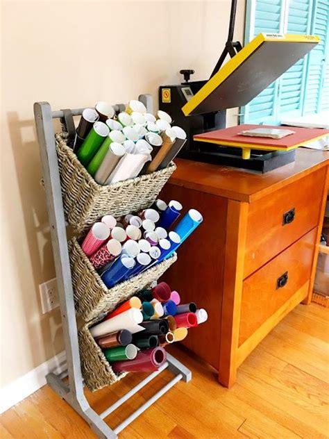 cricut craft room ideas best 25 vinyl storage ideas on