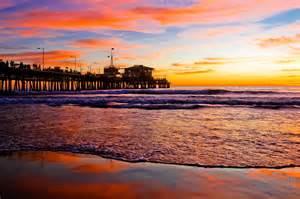 Sunset at santa monica beach pier lifetime memories photography