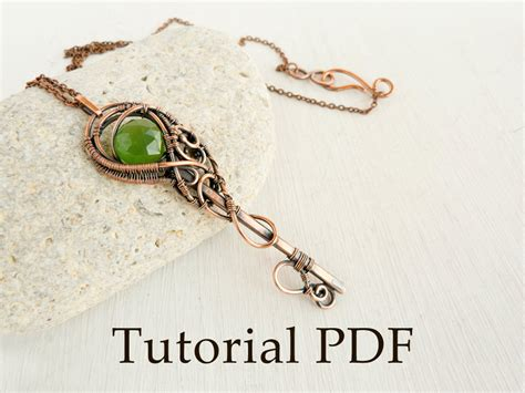 how to make wire wrapped jewelry tutorial jewelry diy project tutorial wire wrapped pendant