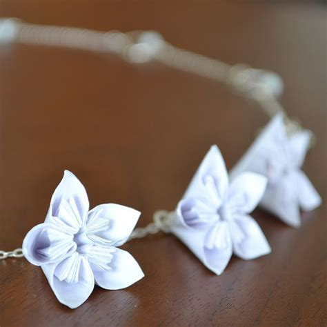 Fleur Origami - headband fleurs origami mariage bijoux