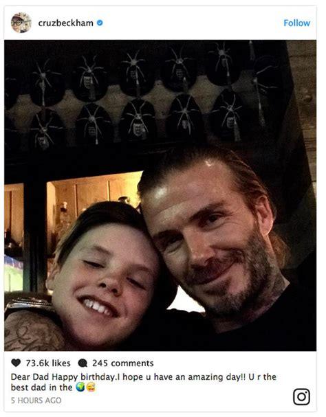 celebrity birthday instagram captions david beckham s family wish him a happy birthday with
