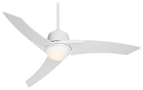 Modern White Ceiling Fans by 48 Quot Casa Vieja Matrix White Ceiling Fan With Light