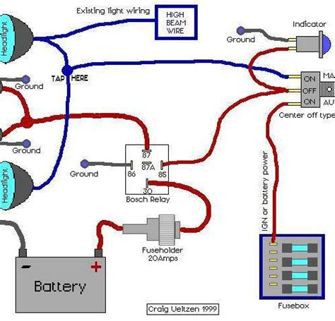 light relay wire diagram wiring diagram