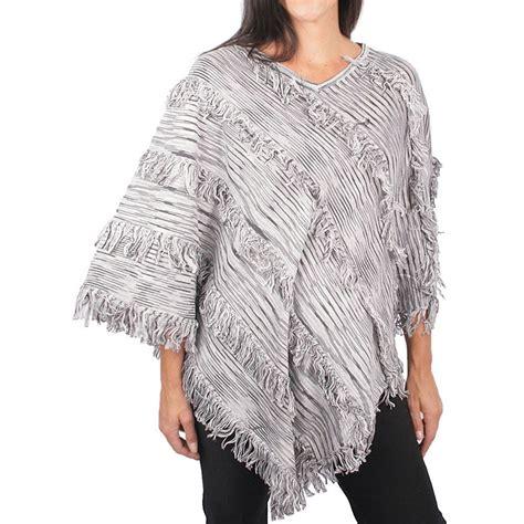 womens knit poncho ethyl fringed knit poncho for 7212k save 42