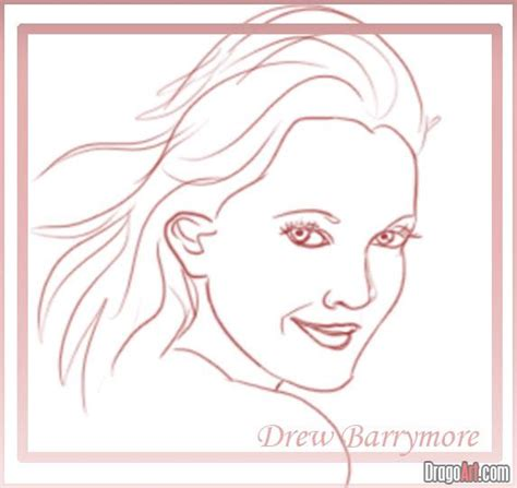 learn how to make doodle learn how to draw drew barrymore step by step