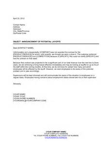 notice of layoff 1 template amp sample form biztree com