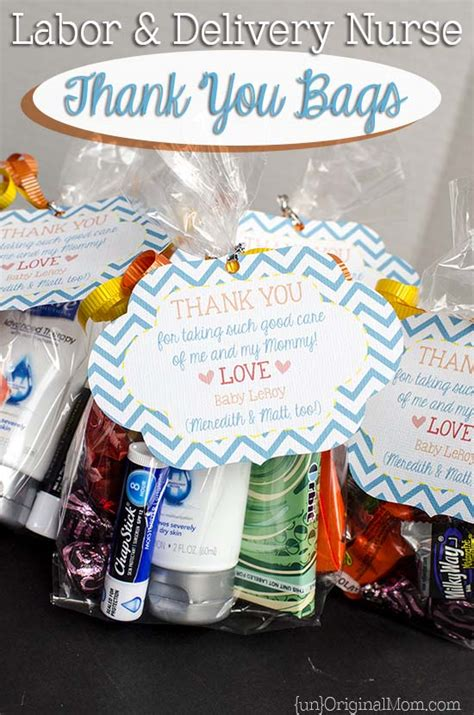 delivery for gifts labor and delivery thank you bags unoriginal