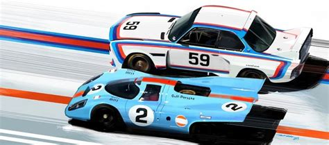 gulf automotive two classic racing color ways gulf and bmw who do you