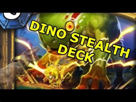hearthstone stealth deck hearthstone decks dino stealth deck