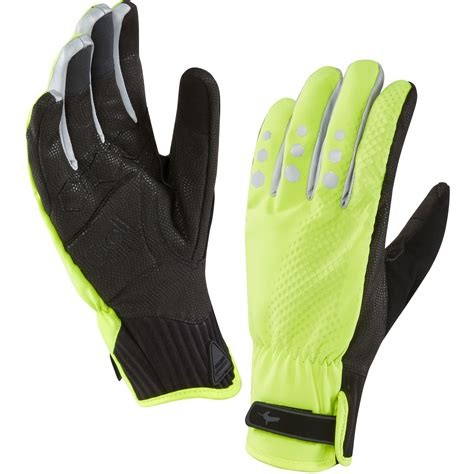 bike gloves sealskinz mens all weather cycle xp waterproof gloves high
