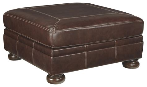 Oversized Square Ottoman Square Leather Match Oversized Accent Ottoman With Bun
