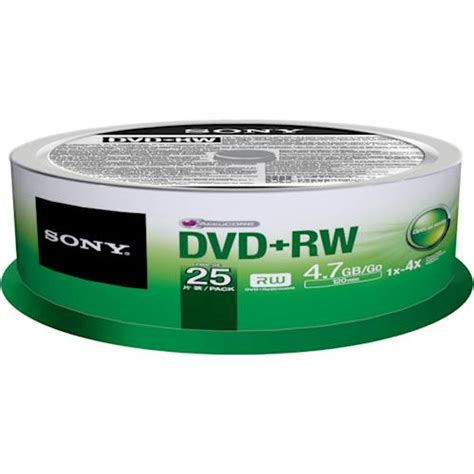 Sony Dvd R Kosong 50 Pack White sony 4x dvd rw discs with spindle 25 pack green