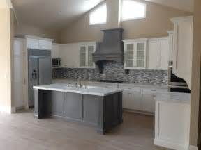grey kitchen island shaker white kitchen fluted grey island style kitchen los angeles by woodwork