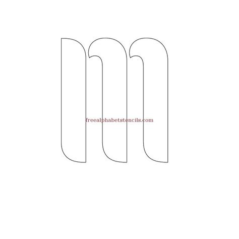 fancy letter m stencil pictures to pin on pinterest