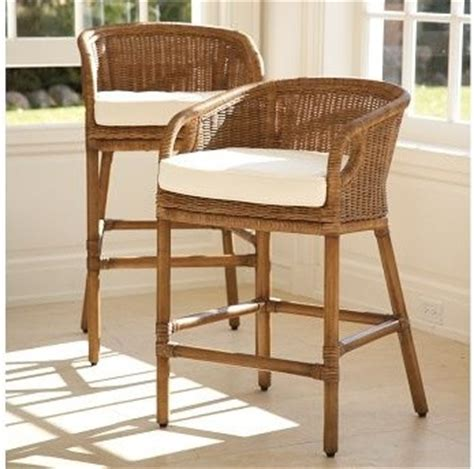 Pottery Barn Bar Stool Wingate Rattan Barstool Pottery Barn Traditional Bar Stools And Counter Stools Other