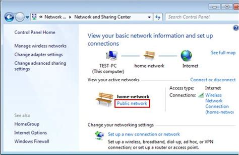 changing the network location type in windows 7