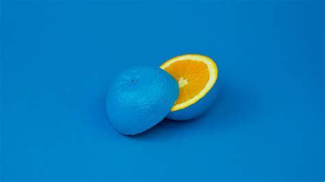 blue background  orange art minimal hd wallpaper