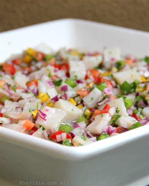 best fish for ceviche ceviche de pescado ecuatoriano recetas de laylita