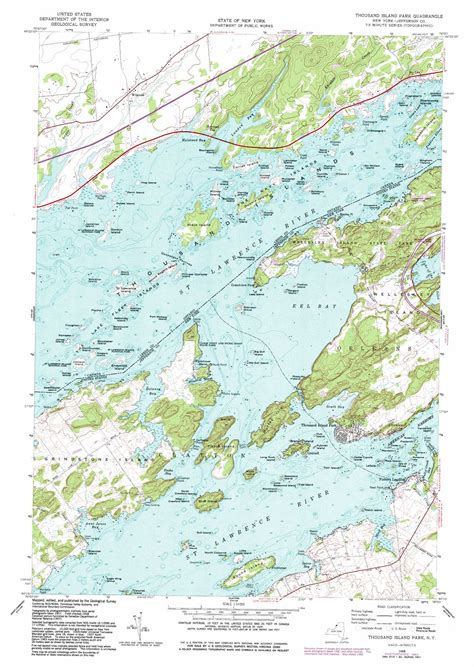 map thousand islands thousand islands new york map