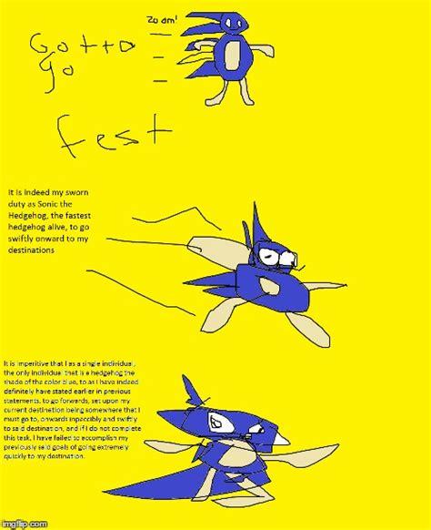 Sonic Gotta Go Fast Meme - gotta go fast imgflip