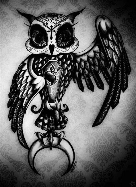 owl and skull tattoo designs 25 best ideas about sugar skull owl on pretty