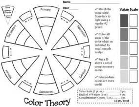 great color theory worksheet color theory lessons