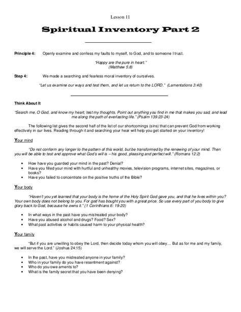 Spirituality In Recovery Worksheets by Celebrate Recovery Lesson 11 Addiction