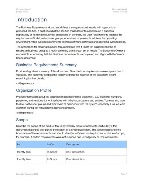 Business Requirements Template Apple Iwork Pages Numbers Letter Template Pages Iwork