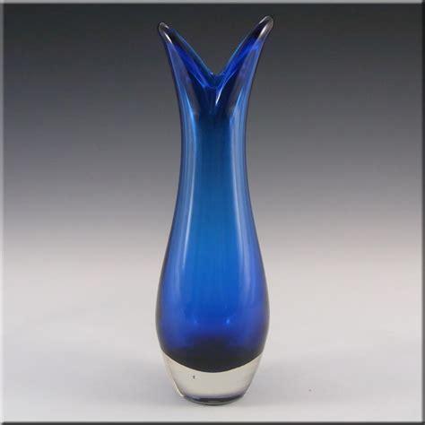 Royal Blue Vase by Whitefriars Baxter Royal Blue Glass Beak Vase 9556 163 20 00