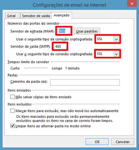 porta imap configura 231 227 o do email premium no outlook 2013 imap ou