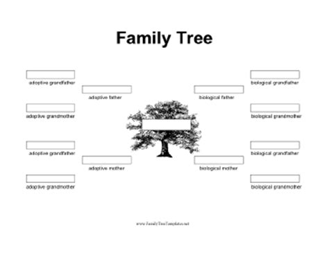 family tree template print newhairstylesformen2014 com this black and white printable family day includes spaces