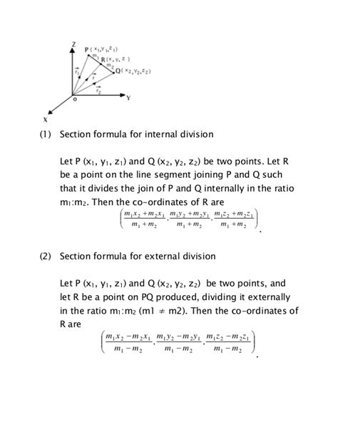 section formula for external division three dimensional co ordinate geometry ssc maths preparation