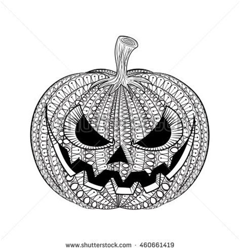 detailed pumpkin coloring page stock images similar to id 110295413 happy halloween