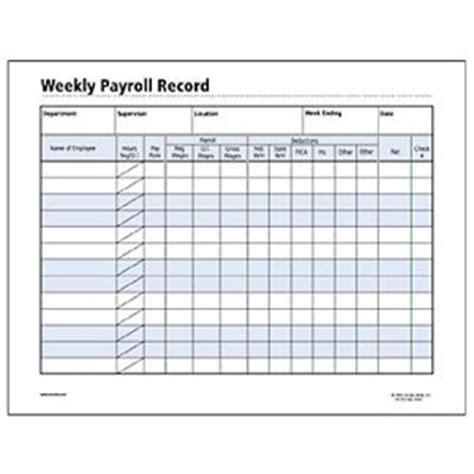 employee payroll record template socrates weekly payroll record form somhr120 shoplet